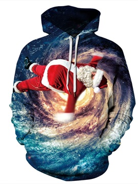 Christmas Funny Design Loose Model Pullover 3D Painted Hoodie