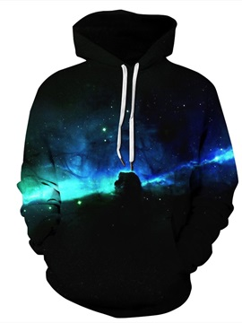 Cool Design Pullover Lightweight Kangaroo Pocket 3D Painted Hoodie
