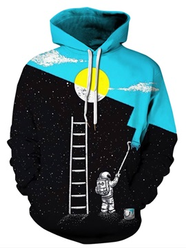Funny Pattern Lightweight Vivid Color Pullover 3D Painted Hoodie