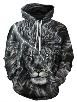 Cool Design Pullover Lightweight Casual Style 3D Painted Hoodie