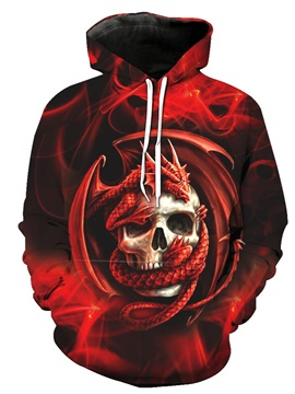 Cool Graphics Lightweight Pullover Unisex 3D Painted Hoodie