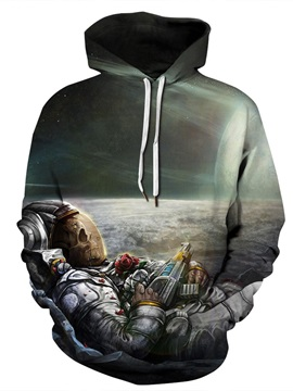 Funny Design Polyester Lightweight Workout Fastness 3D Painted Hoodie