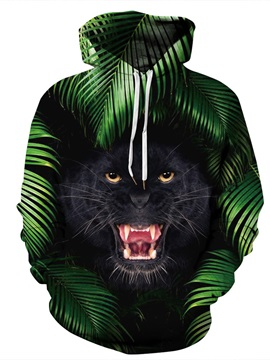 Cool Animal Realistic Pullover Loose Model 3D Painted Hoodie