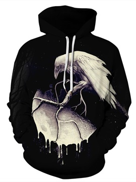 Casual Style Pullover Workout Vivid Color 3D Painted Hoodie