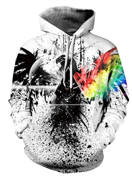 Lightweight Vibrant Color Polyester Loose Model 3D Painted Hoodie