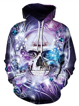 Workout Lightweight Pullover Polyester 3D Painted Hoodie