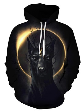 Pullover Fastness Loose Model Kangaroo Pocket 3D Painted Hoodie