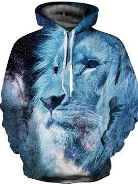 Loose Model Athletic Polyester Lightweight 3D Painted Hoodie