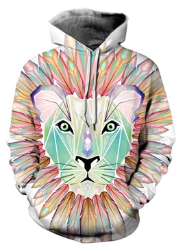Vivid Color Lightweight Pullover Casual Style 3D Painted Hoodie