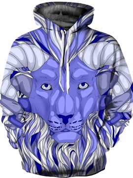Vibrant Color Loose Model Kangaroo Pocket 3D Painted Hoodie