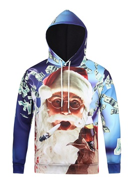 Funny Design Pullover Loose Model Athletic 3D Painted Hoodie