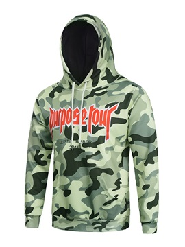 Pullover Vibrant Color Loose Model Kangaroo Pocket 3D Painted Hoodie