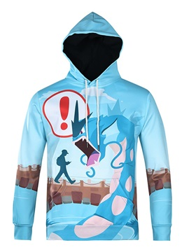 Funny Pattern Vivid Color Pullover Workout 3D Painted Hoodie