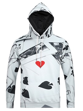 Poker Pattern Lightweight Vibrant Color 3D Painted Hoodie