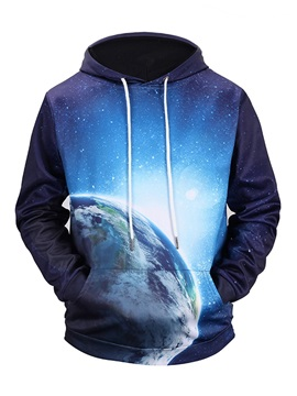 Pullover Loose Model Vivid Color Kangaroo Pocket 3D Painted Hoodie