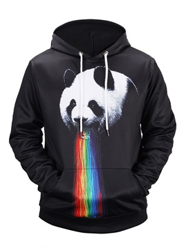 Funny Pattern Loose Model Vibrant Color Pullover 3D Painted Hoodie