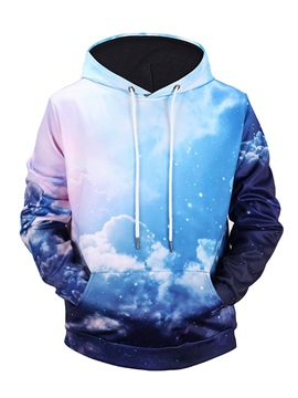 Vivid Color Pullover Fastness Kangaroo Pocket 3D Painted Hoodie