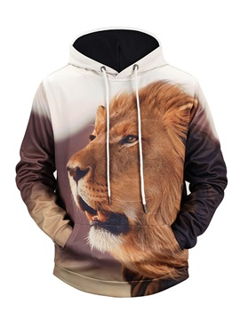 Kangaroo Pocket Vibrant Color Loose Model 3D Painted Hoodie