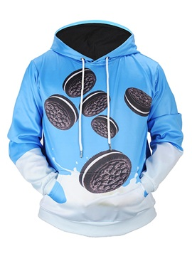 Funny Pattern Loose Model Pullover Athletic 3D Painted Hoodie