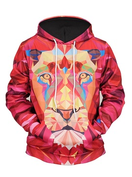 Casual Style Workout Pullover Kangaroo Pocket 3D Painted Hoodie