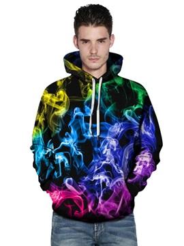 Long Sleeve Color Smoke 3D Painted Pullover Men's Hoodies