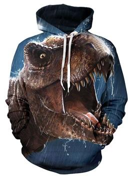 Jurassic Park Dinosaur Tyrannosaurus in the Rain Printed 3D Animal Galaxy Hoodies Sweatshirts Pullover