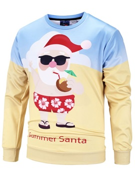 Soft and Lightweight Christmas Sweater 3D Print Christmas Father Pullover Sweatshirt Hoodies