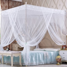 Stainless Steel Frame Polyester Square Mosquito Net