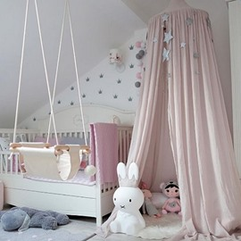 Signature Cotton Fabric Nordic Style Pink Kids Canopy