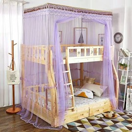 Bunk Bed Dormitory Single Door Durable Polyester Mosquito Net