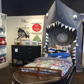 Shark Shaped Dome Polyester Hanging Mosquito Bed Nets/Canopy