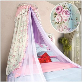 Light Green Floral Hanging Bed Nets/Canopy