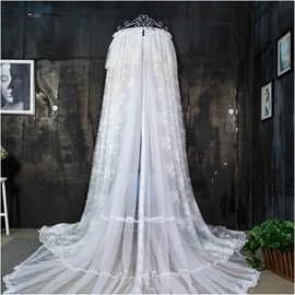 White Lace Polyester Hanging Bed Nets/Canopy