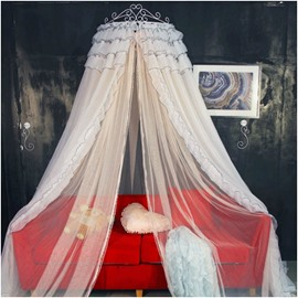 Princess Style Two-color Polyester Hanging Bed Nets/Canopy