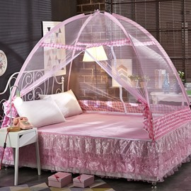 Princess Style Free Installation Two Openings Mongolian Yurt Bed Net