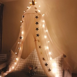 Fluorescent Stars for Free Princess Bed Canopy Mosquito Net