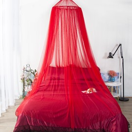 Round Lace Princess Bed Canopy Mosquito Net