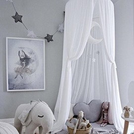 Children's Room Decoration Tents Dome Children's Bed Curtains Indoor Play House Bed Nets Princess Toddler Bed Canopy