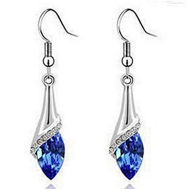 Shining Five Colors for Choose Glass Pendant Earrings