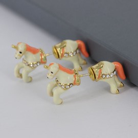 Lovely Unicorn Animals Design Enamel Glaze Women's Earrings