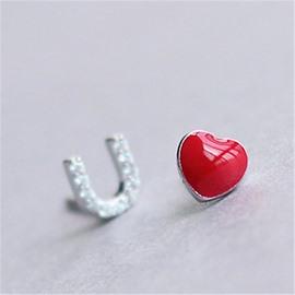 Women's Creative Gift Love U Shaped Sterling Silver Errings