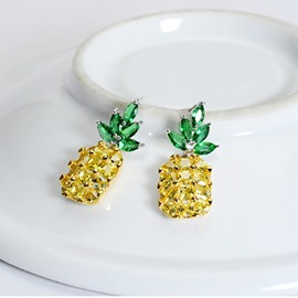 Pineapple Summer S925 Sliver Cute for Women&Girl Earrings