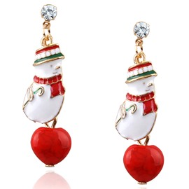 Snowman Shape Merry Christmas Adorable Earring