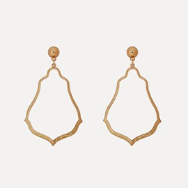 Christmas Simple Golden Frame Hollow Earrings