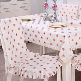 Lovely Polyester Fibre Pink Little Flowers Pattern Decorative Chair Covers