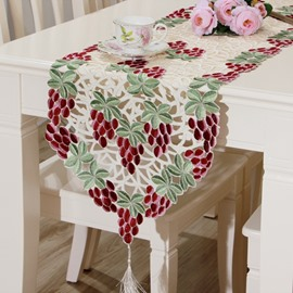Amazing Rectangle Polyester Grape Pattern Dining Room Decoration Table Runner