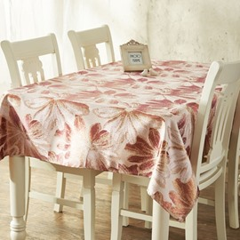 Rectangle Country Style Flower Prints Dining Room Decorative Washable Tablecloth
