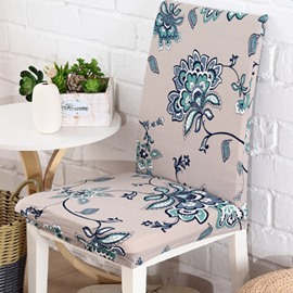 Unique Design Polyester Flower Print Home Decorative 2 Pieces Chair Covers
