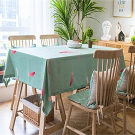Creative Flamingos and Red Features Printing Home and Hotel Table Cloth