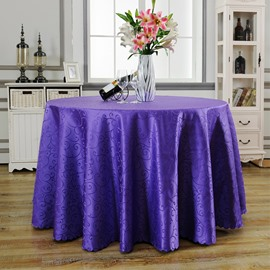 Pure Color Round Shape Mediterranean Style Fastness Table Cloth